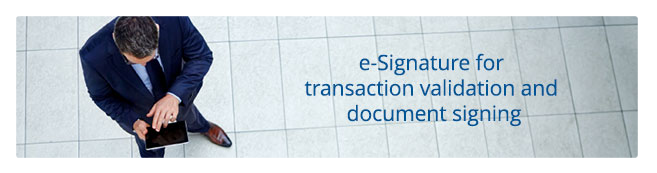 e-Signatures for transaction validation and document signing